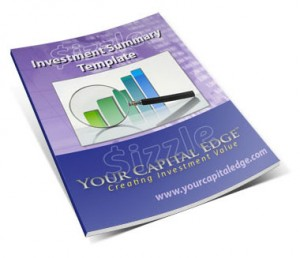 Investment summary templates your capital edge investmentsummary template 300x258 maxwellsz